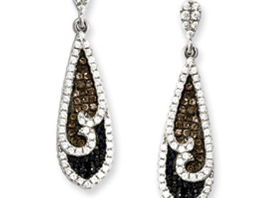 Sterling Silver & CZ Brilliant Embers Dangle Post