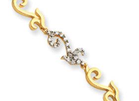Sterling Silver Vermeil CZ Bracelet