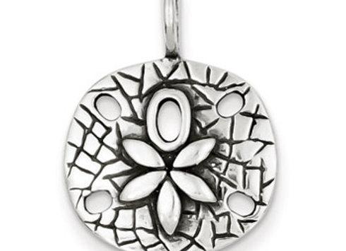 Sterling Silver Antiqued Sand Dollar Pendant