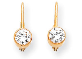 14k A Diamond Leverback Earrings