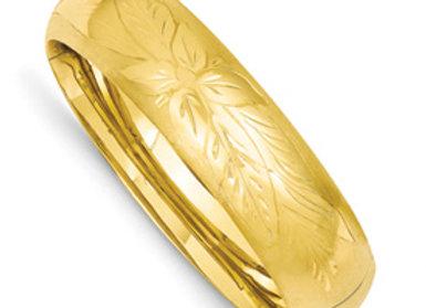 14k 11/16 Oversize Florentine Engraved Bangle