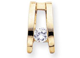 14k A Diamond Slide
