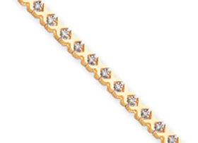 14k A Quality Completed Diamond Xs Tennis Bracelet