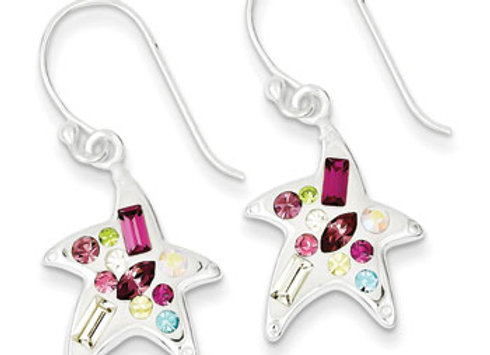 Ster. Silv. Multi-Colored Stellux Crystal Star