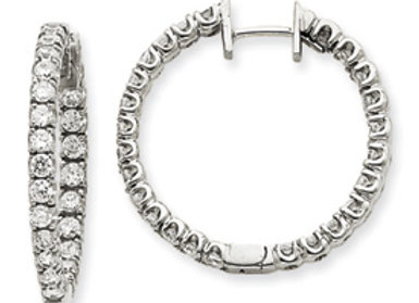 14kw VS Diamond Hinged Hoop Earrings