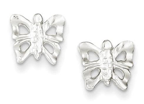 Sterling Silver Butterfly Mini Earrings