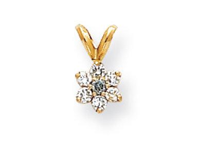14k Blue Diamond/AA Pendant