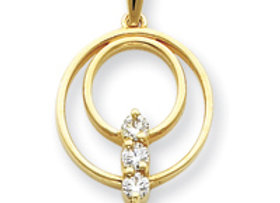 14k AAA Diamond Pendant