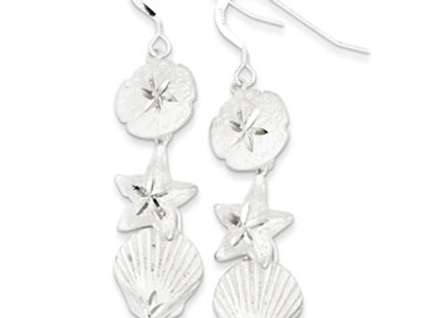 Sterling Silver Sea Life Earrings