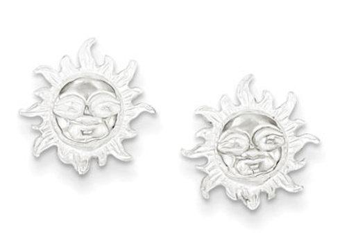 Sterling Silver Sun Mini Earrings