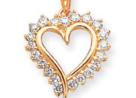 14k VS Diamond Heart Pendant
