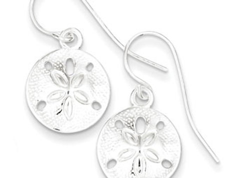 Sterling Silver Polished & Textured Sand Dollar