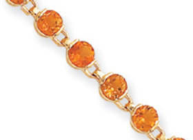 14k Completed Fancy Citrine Bracelet