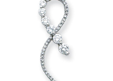 14k 1.0 ctw Diamond Journey Ribbon Pendant