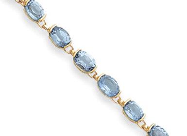 14k Blue Topaz Bracelet
