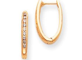14k Diamond Complete Hinged Hoop Earrings