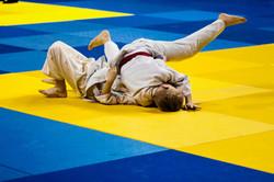 La lucha de judo