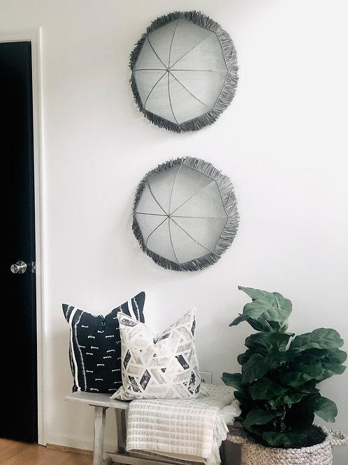 Hand Woven Baskets - Wall Art (set of 2)