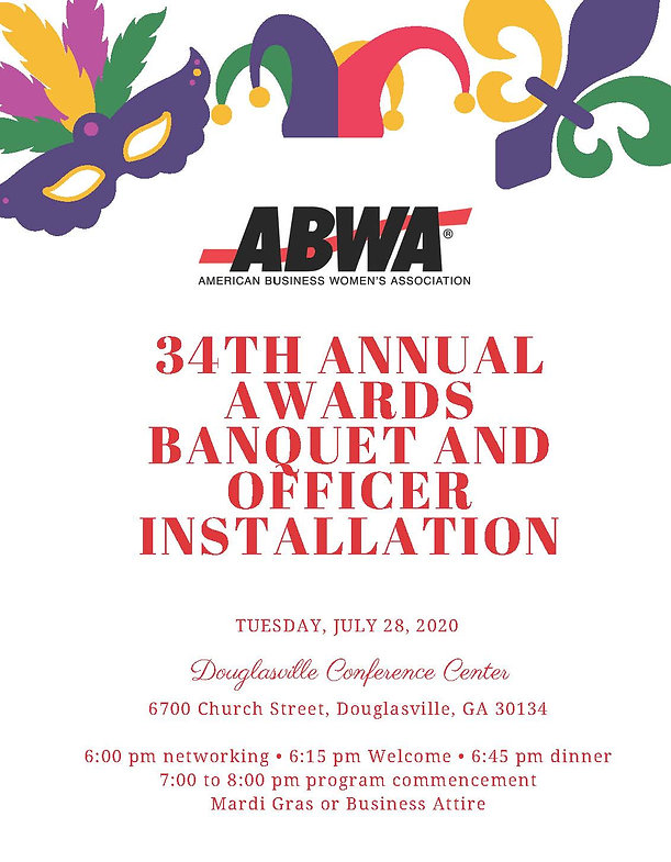 ABWA 34th Annual Awards & Officer Instal