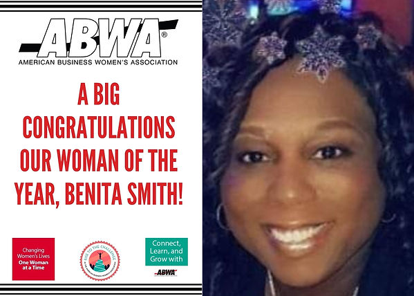 Congrats to Benita Smith, ABWA DCCC 2020