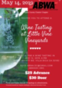 Copy for website of 2019 Little Vine Vin