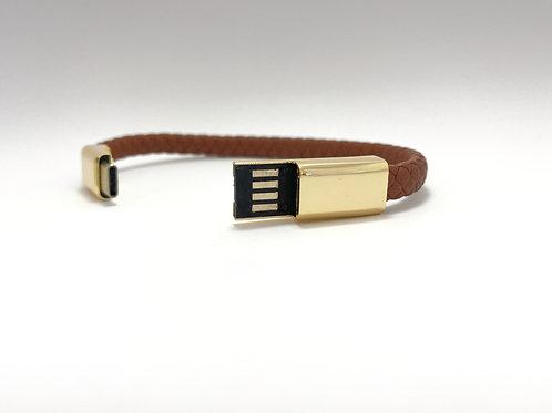 Bracelet Marron et Or