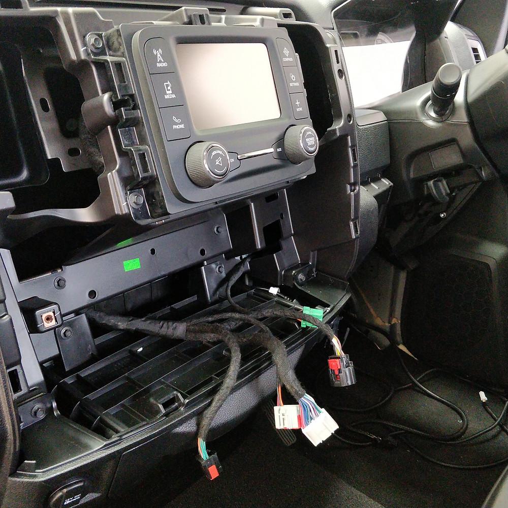 Dodge RAM 1500 dismantled dash