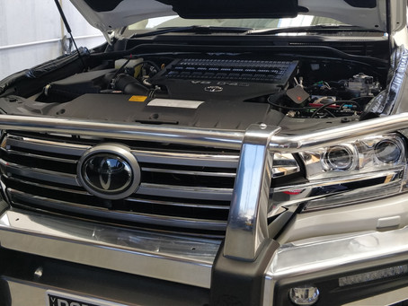 Removing front grille on 200 Series Landcruiser 2016 - On