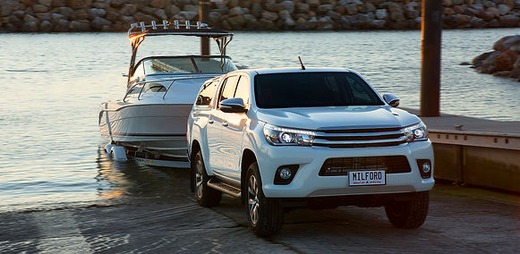 Milford Toyota Hilux Launching Boat at Ramp