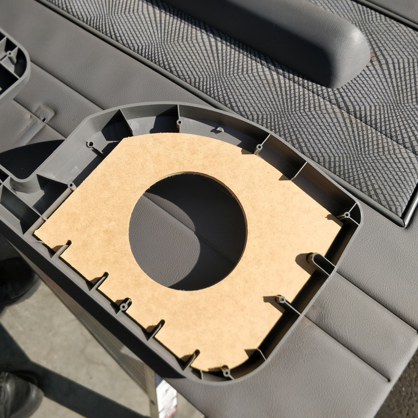 MDF backing plate
