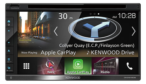 Kenwood AV Navigation System with 6.8inch WVGA Clear-coated Resistive Display