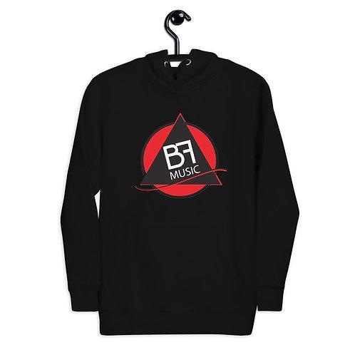 Unisex Hoodie Black BF Red