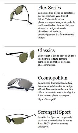 De nombreux modèles de lunettes de soleil Serengeti chez Gembloux Opti 5ee36b34ab41