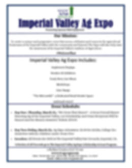 Info Sheet- Imperial Valley Ag Expo-2019
