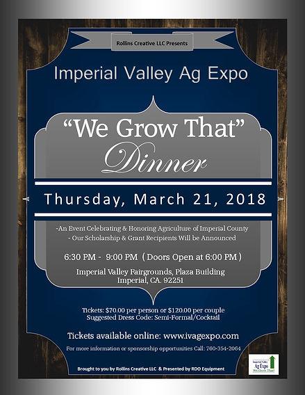 Invitation- Ag Expo- We Grow That Dinner