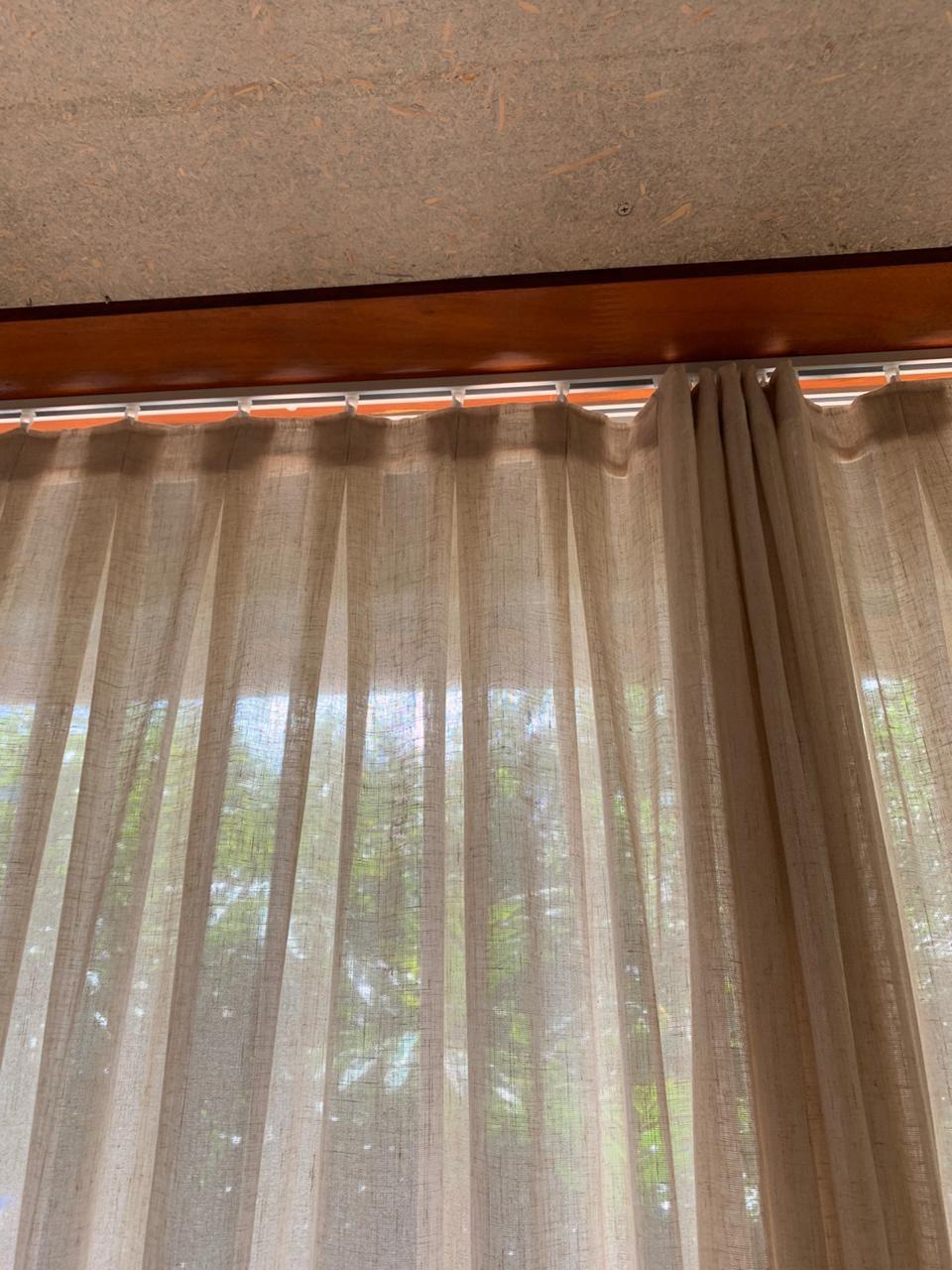detalhe / prega cortina de tecido