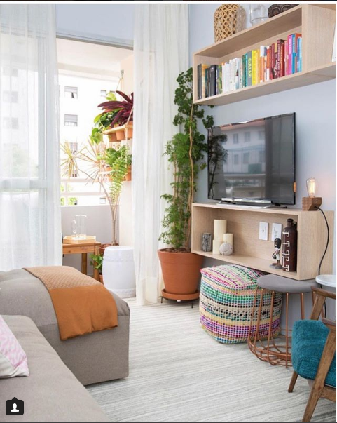 sala, cortina, tecido, tradicional