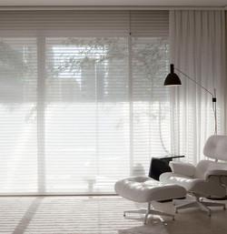 sala, cortina, Silhouette