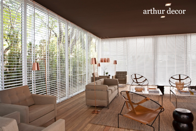 persiana de aluminio,hunter douglas, sala