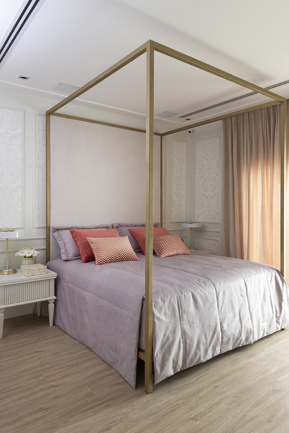 cortina, tecido, quarto