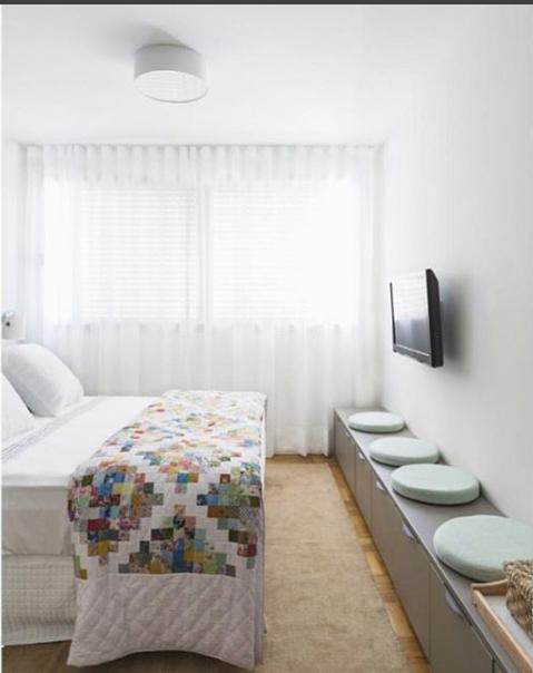 quarto, cortina, tecido, branca