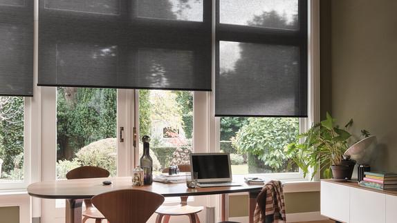 home office tela solar escura
