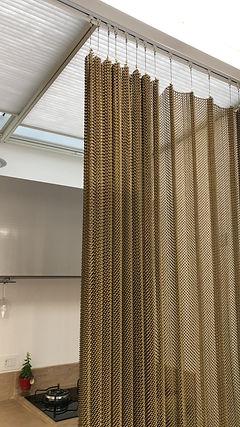 cortina de malha metalica @arthurdecor