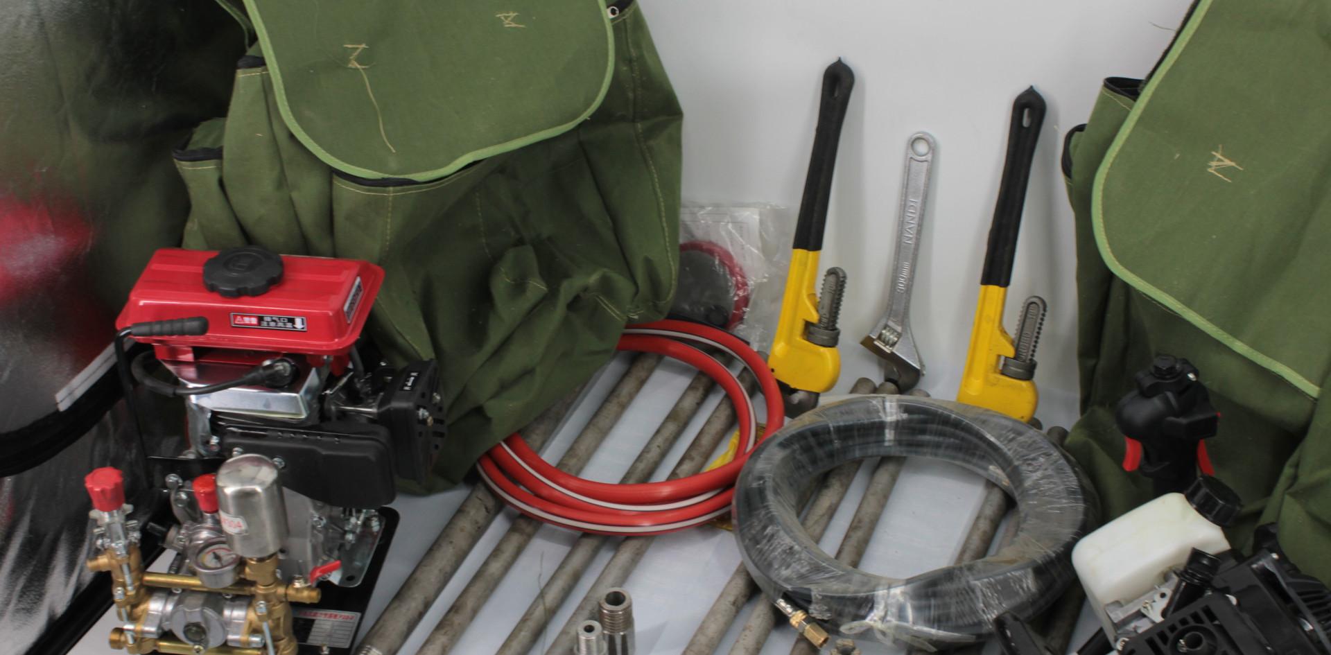 Backpack portable drilling and soil samp