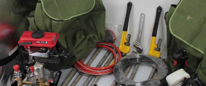 กระเป๋าเป้สะพายหลังแบบพกพาเจาะและดิน