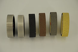 "6""x1-1/2"" Lapidary Cabbing Diamond REZ Resin and Hard Polishing Grinding Wheels Combined 6 Grit Set"