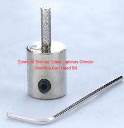 "1/4"" Diamond Stained Glass Lapidary Grinder Machine Cap Head Bit"