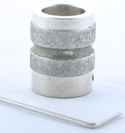 "1"" Diamond Stained Glass Lapidary Grinder Radius Edger Head Bit"