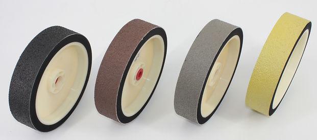 """Set 4 pcs 6"""" lapidary soft diamond resin polishing grinding wheels cabbing rez premium nova 280, 600, 1200, 3000"""