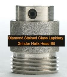 """1"""" Diamond Stained Glass Lapidary Grinder Helix Head Bit"""